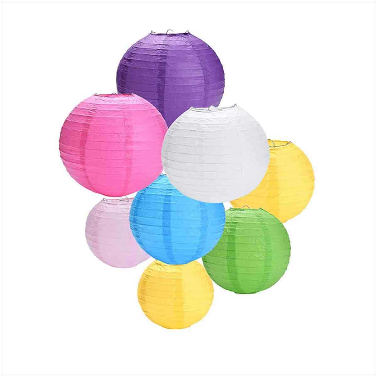 linternas de papel de colores