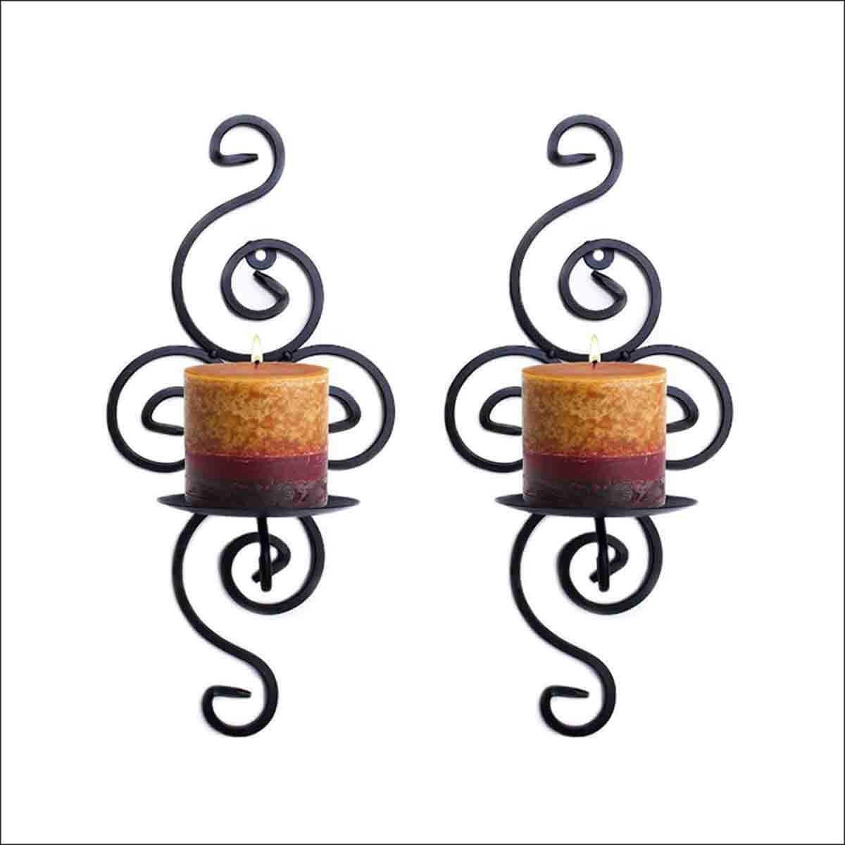 portavelas colgantes de hierro