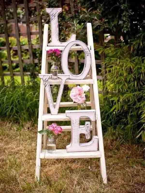 letras decorativas love estilo vintage