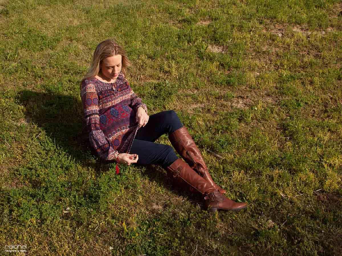 fotos de embarazada con mascota en exterior