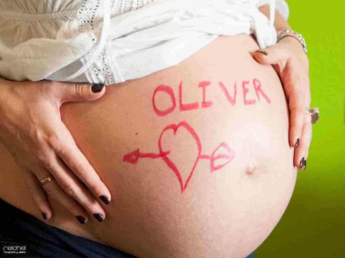 vientre de una embarazada