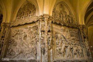 relieves del interior catedral de burgos