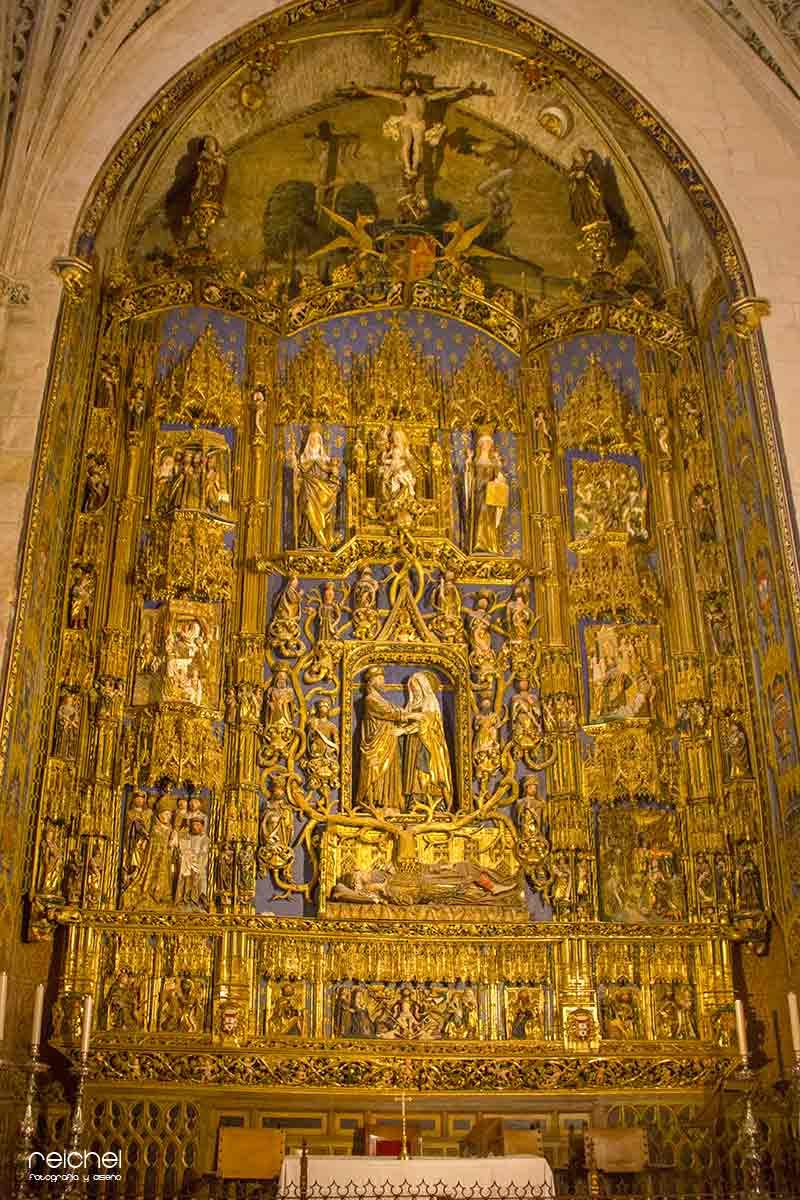 retablo de la capilla de santa ana cedral de burgos