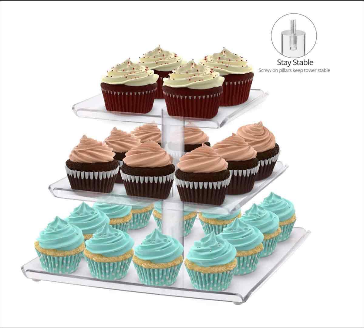 soporte para cupcakes casero