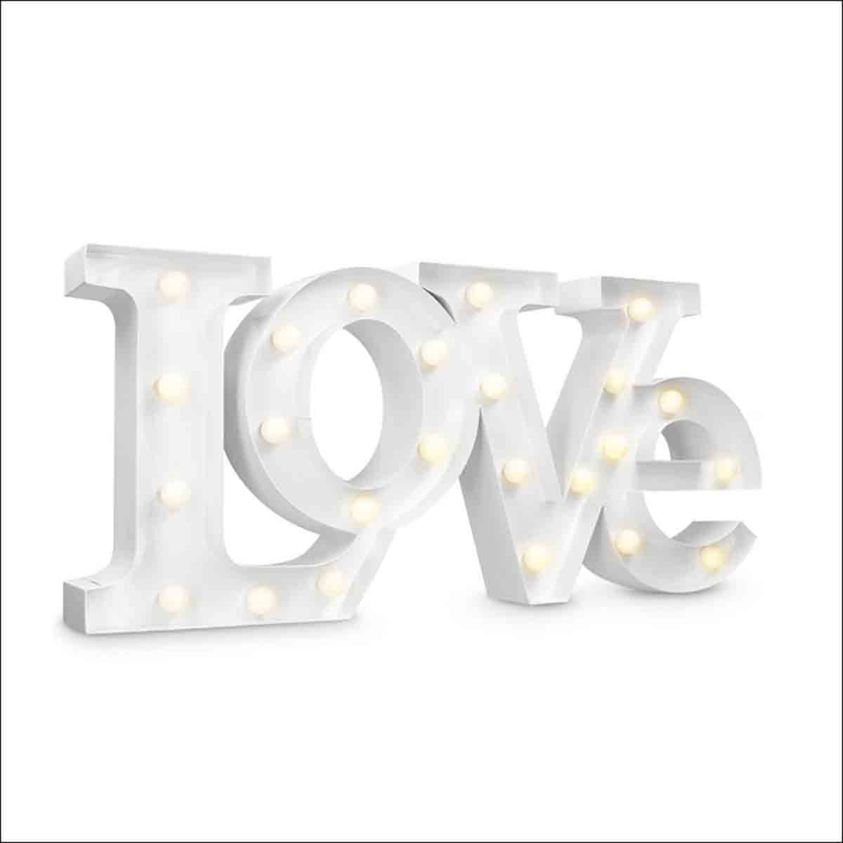 letra love decorativa luminosa