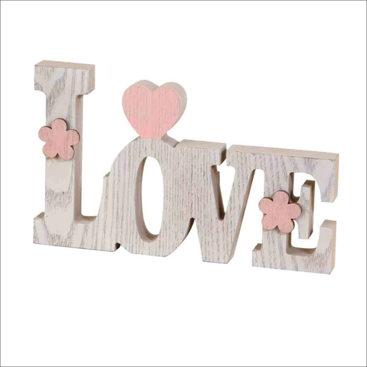 letras decorativas love de madera