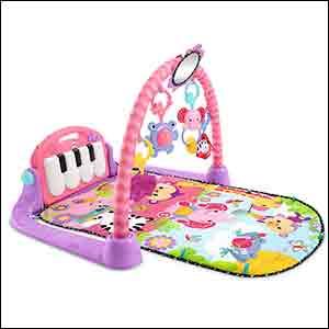 manta musical color rosa para niña