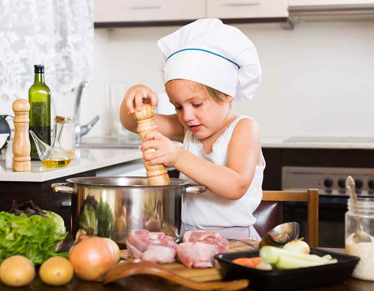 comida casera para niños