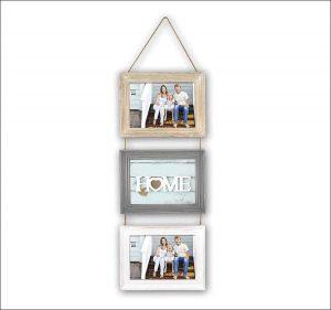 marcos de madera tres fotos