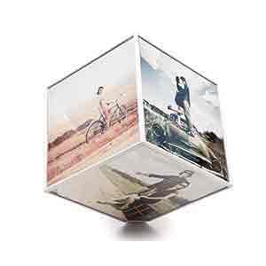 cubo giratorio con fotos