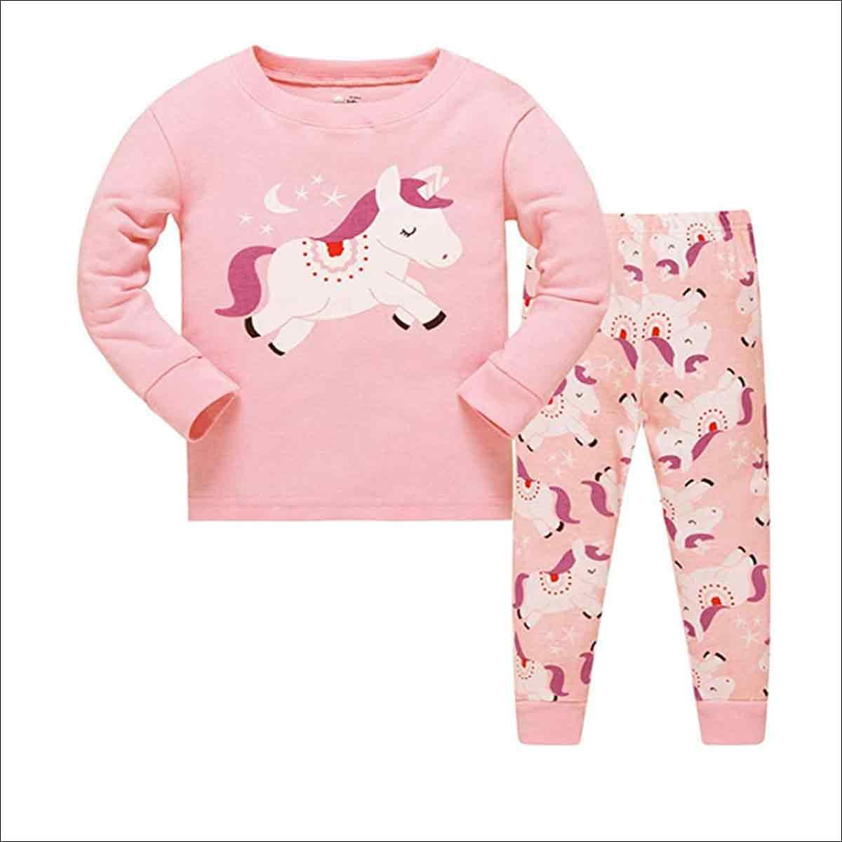 pijamas para niñas de unicornios