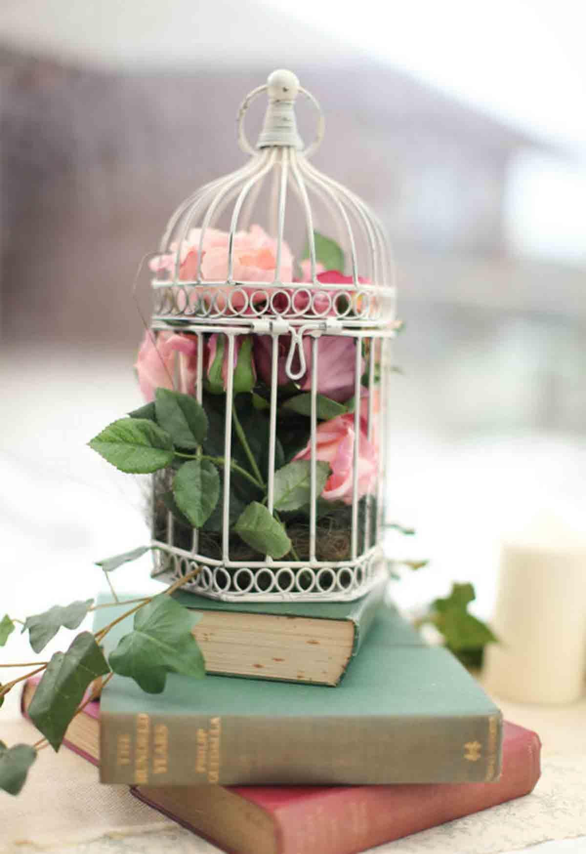 ideas para decorar con jaulas