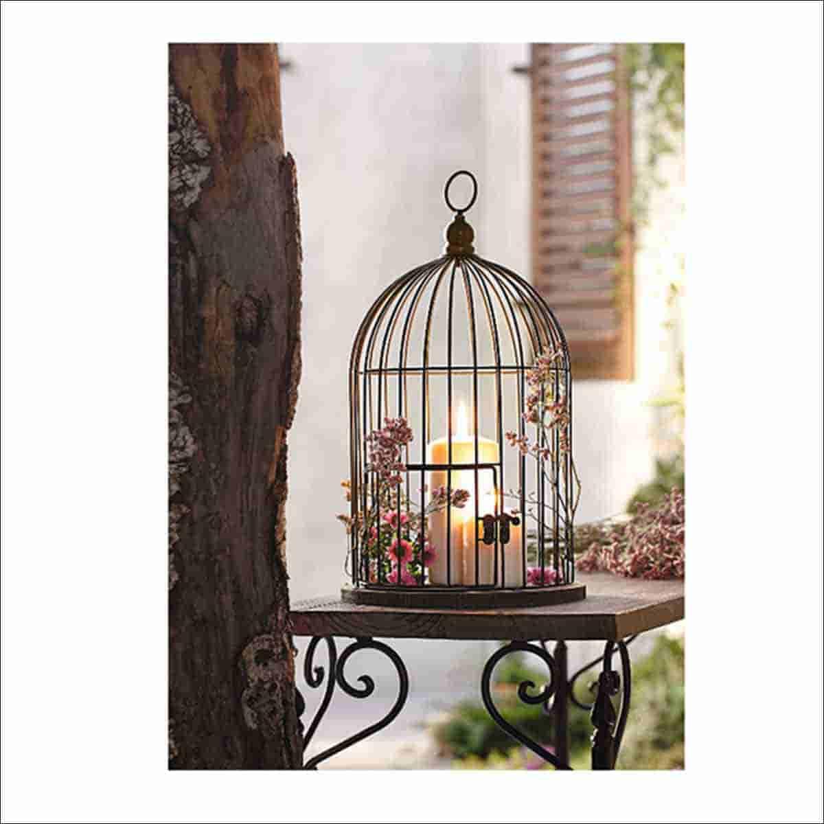 jaula decorativa para el jardin