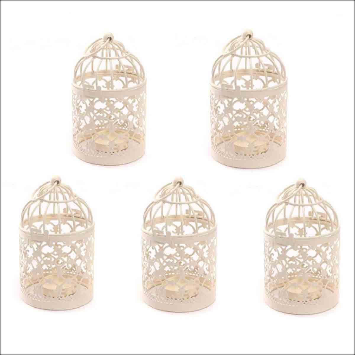 jaulas decorativas pequeñas estilo vintage
