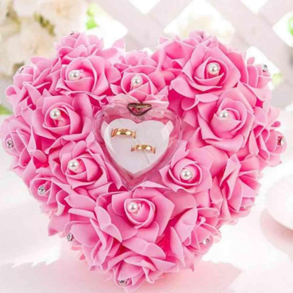 cojin rosa romantico