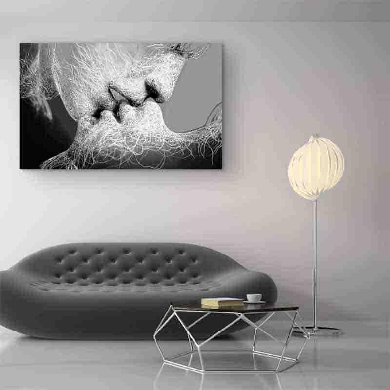 deoracion con cuadros en blanco y negro