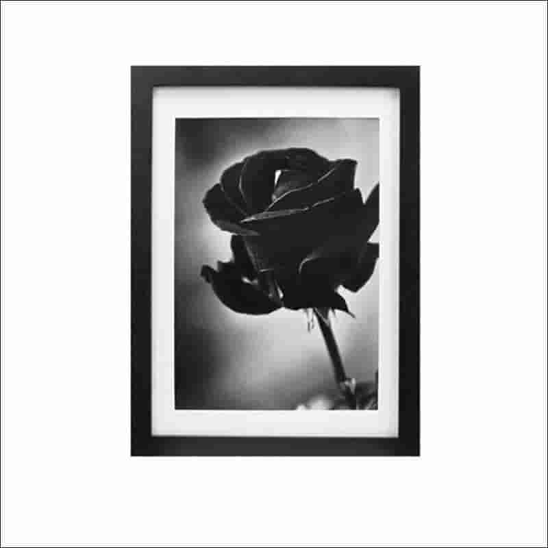 marcos de madera color negro