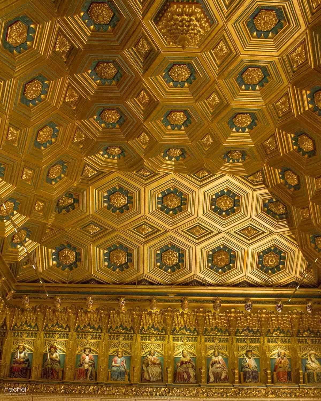 techo de la sala de los reyes