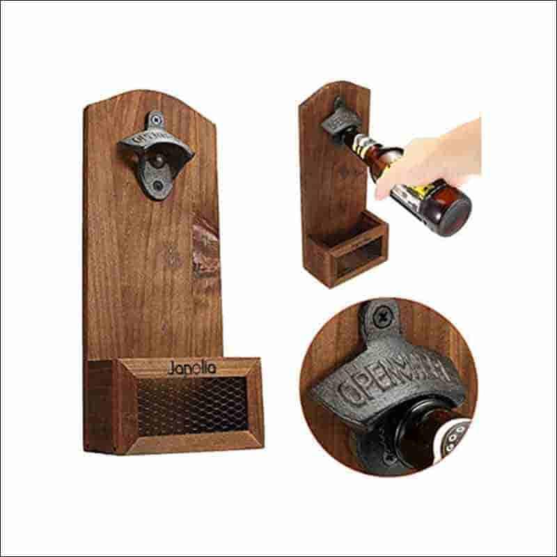 abridor de bottelas de madera