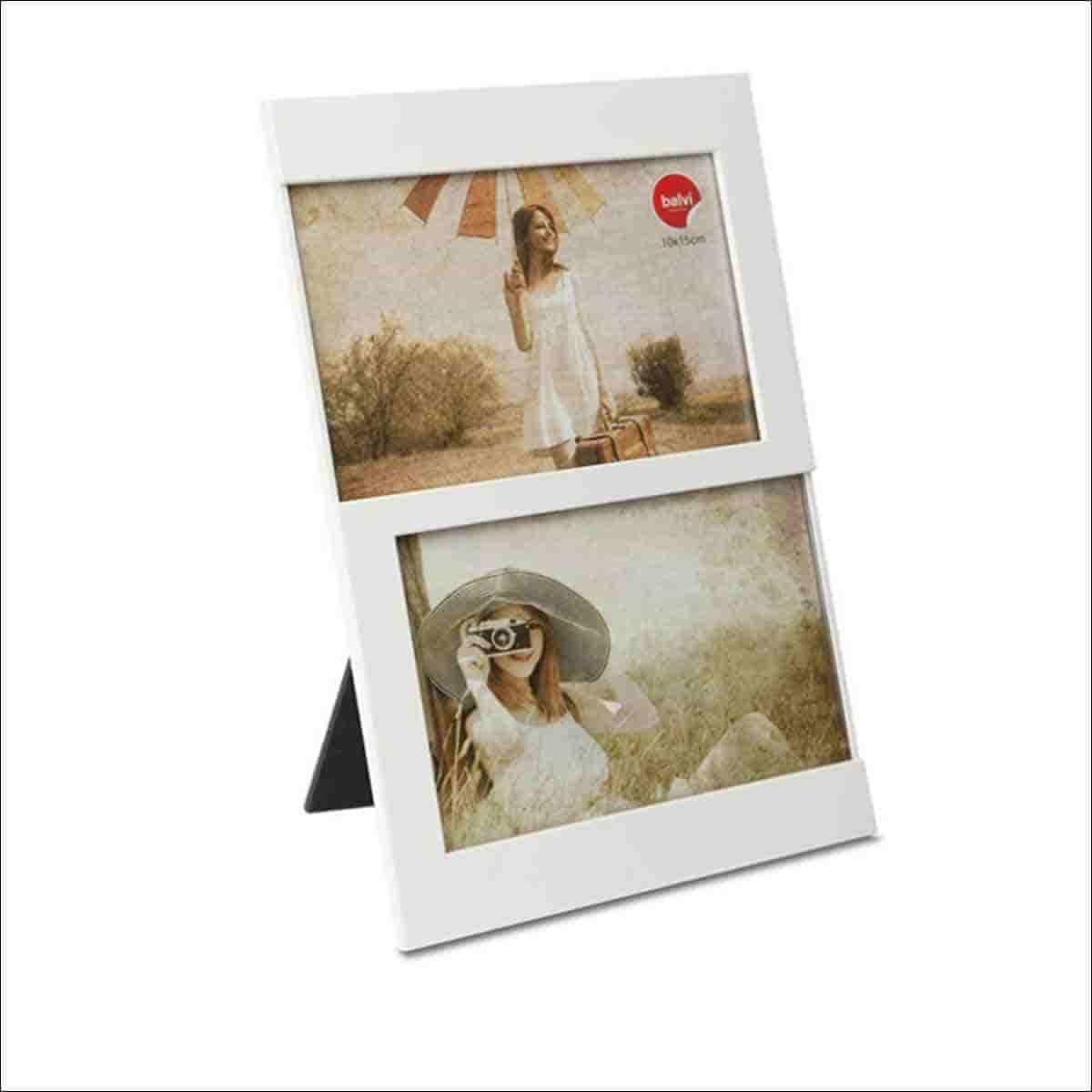 marco color blanco para dos foto