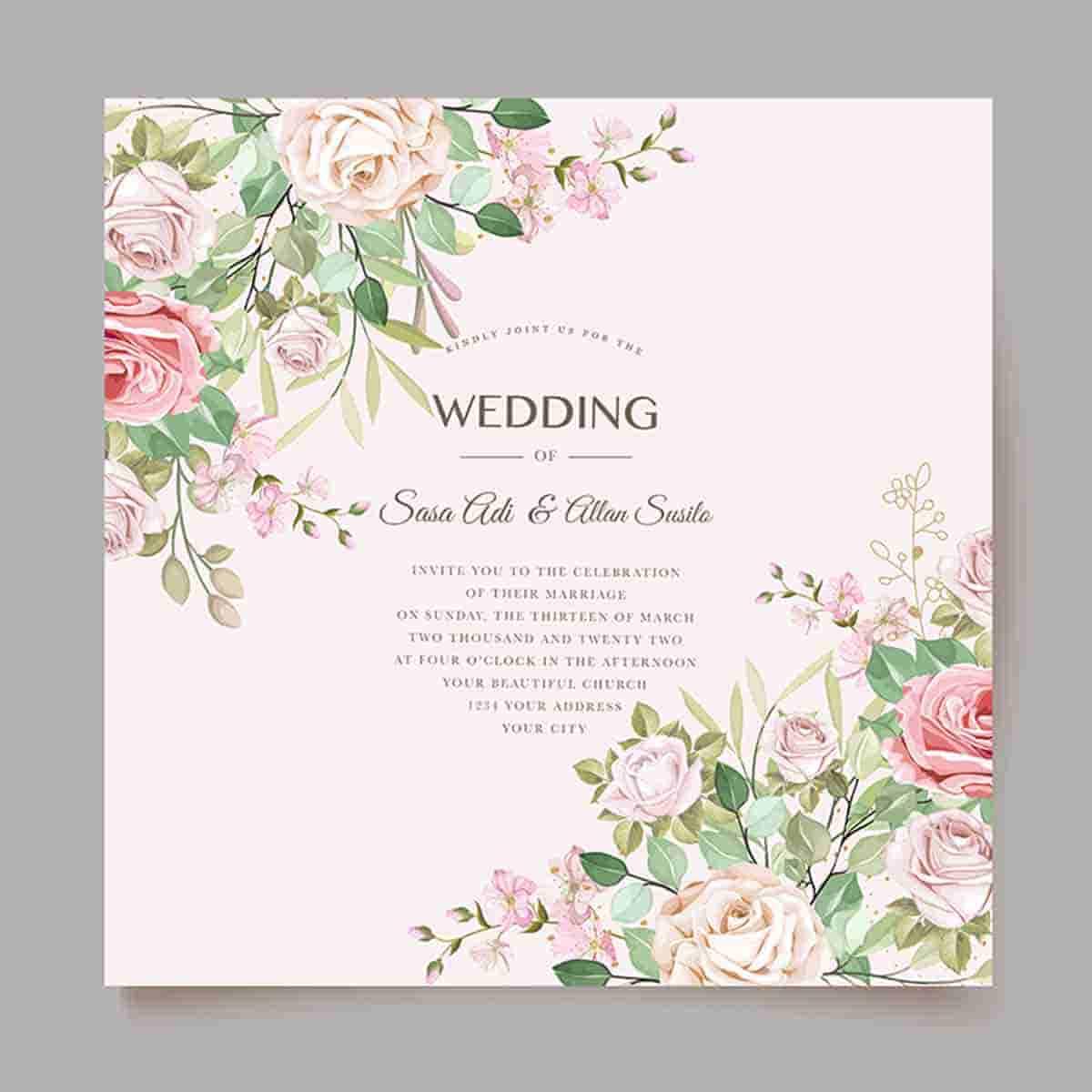 invitaciones de boda con-flores