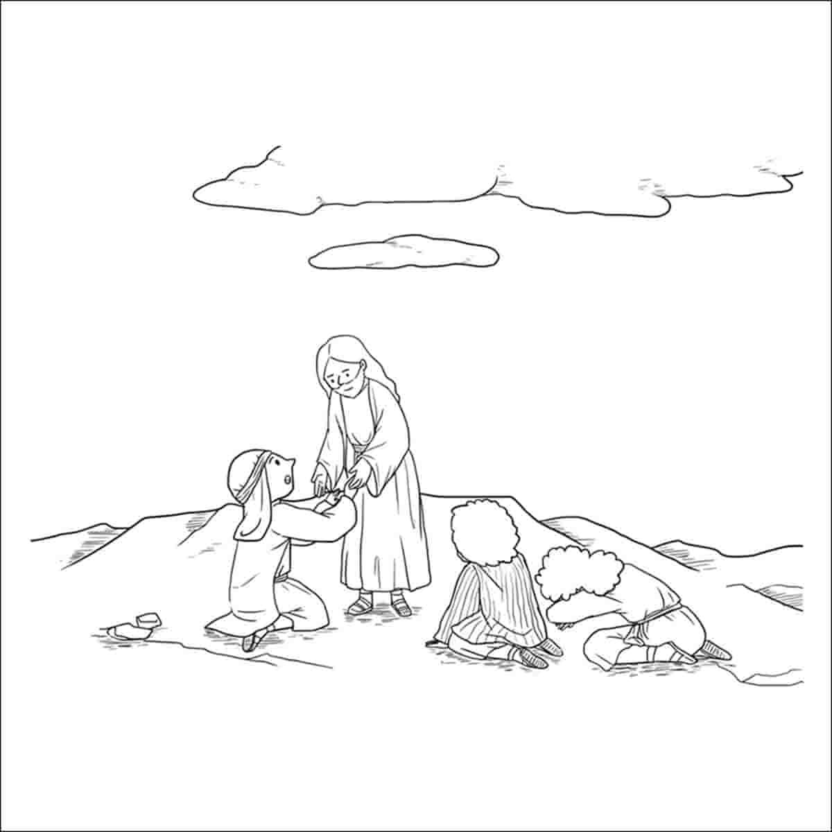 dibujos para colorear religiosos infantiles