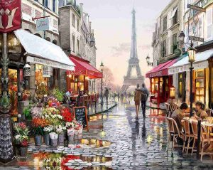 pintura por numeros de paisaje