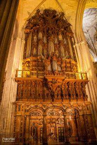 organo de interior de la cetedral de sevilla